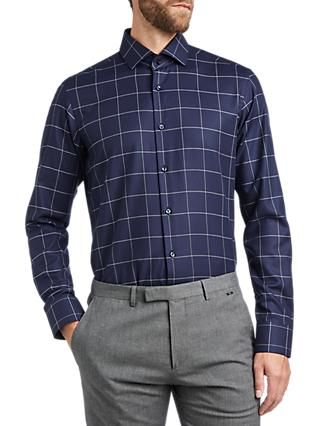 HUGO by Hugo Boss Vordon Window Pane Check Shirt, Navy