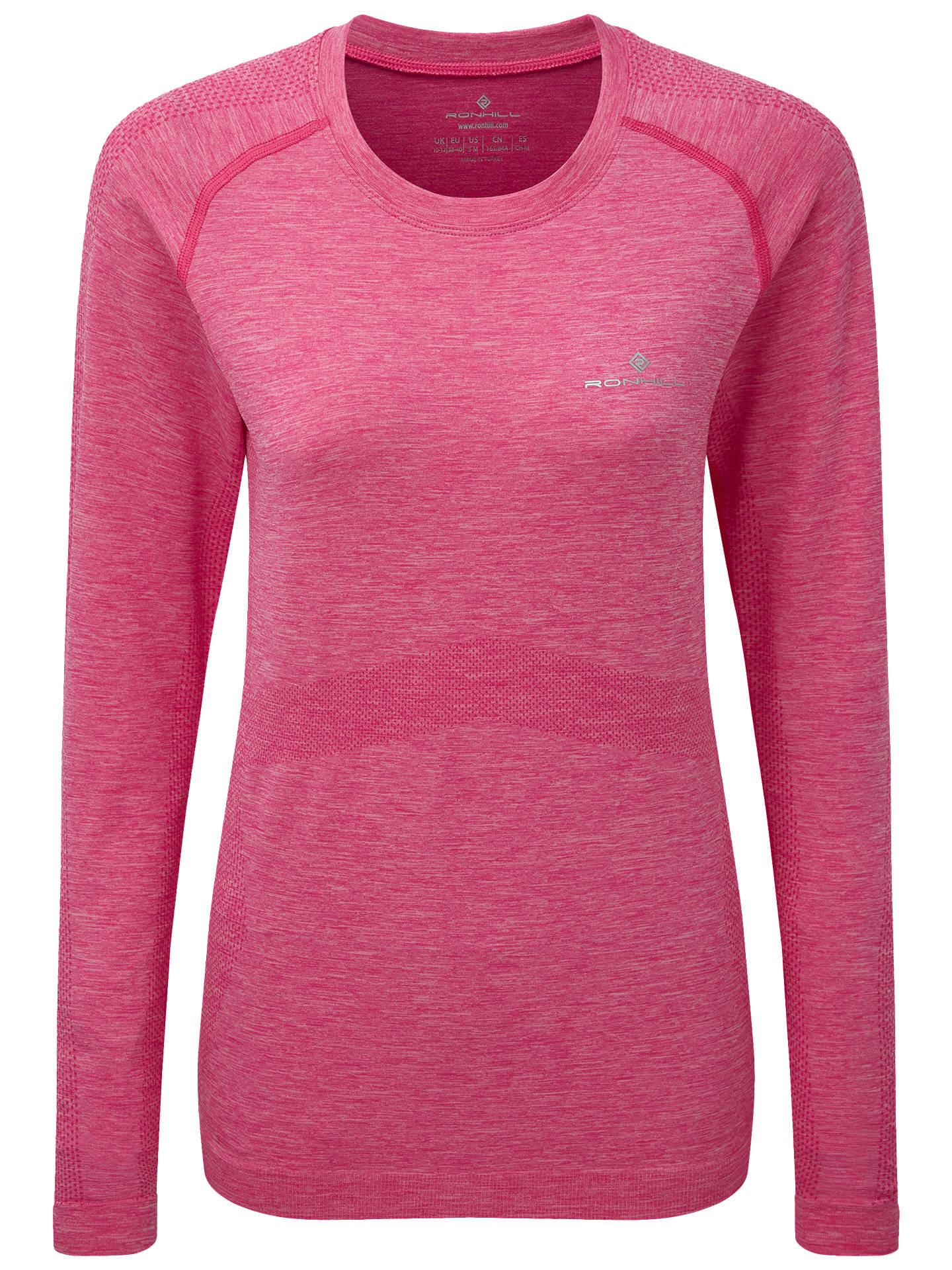BuyRonhill Marathon Long Sleeve Running Top, Azalea Marl, 14-16 Online at johnlewis.com