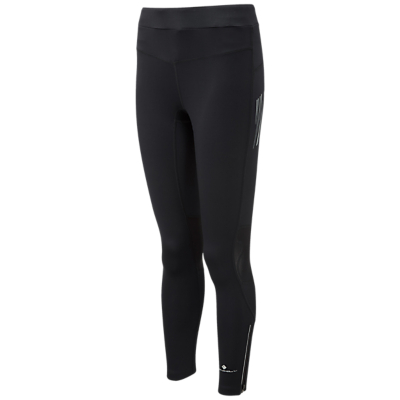 Ronhill Stride Stretch Running Leggings, All Black