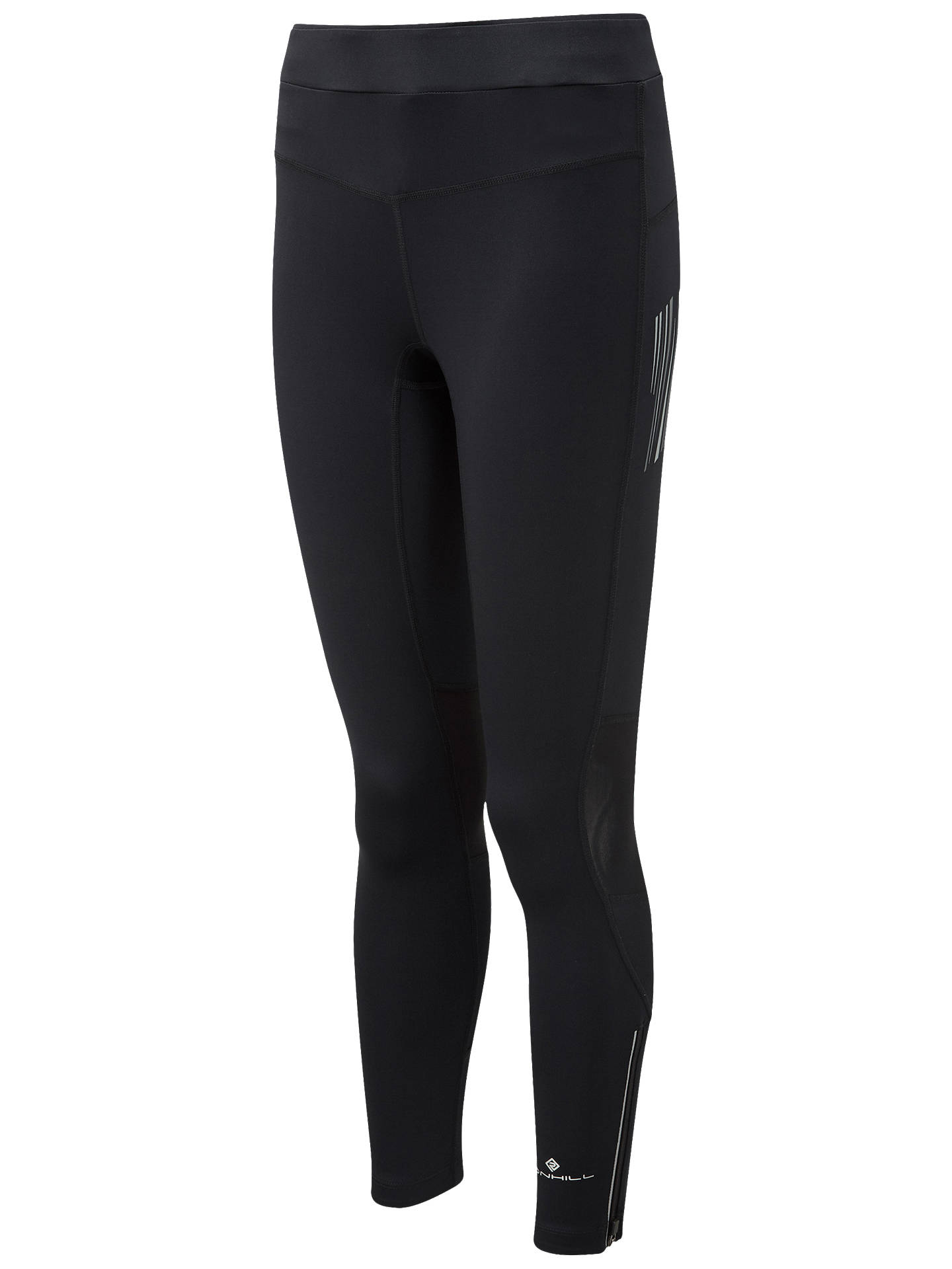 Buy Ronhill Stride Stretch Running Leggings, All Black, 8 Online at johnlewis.com