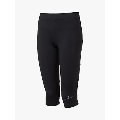 Ronhill Stride Stretch Running Capris, All Black