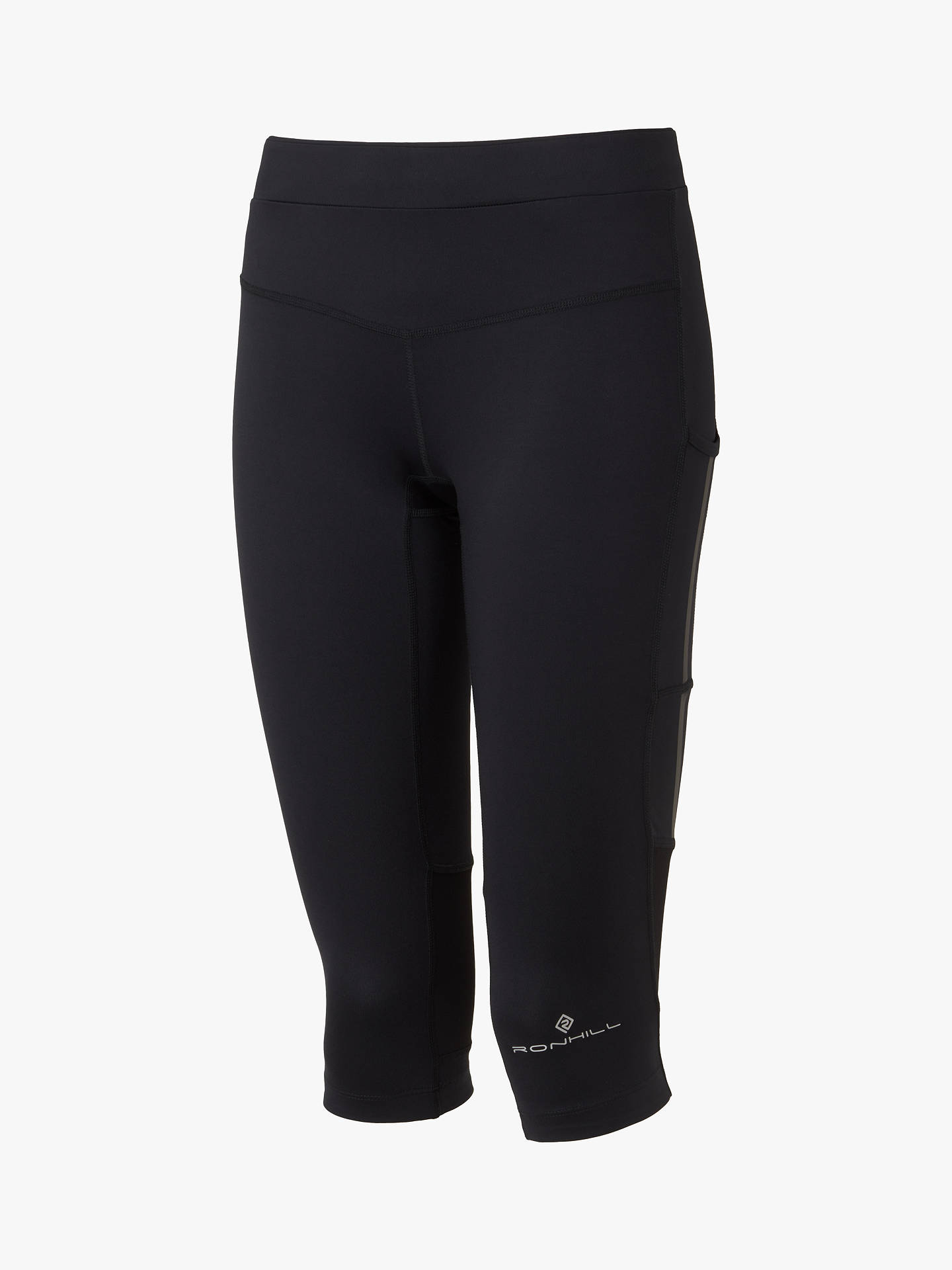 Buy Ronhill Stride Stretch Running Capris, All Black, 8 Online at johnlewis.com