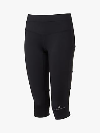 Ronhill Stride Stretch Running Capris, All Black