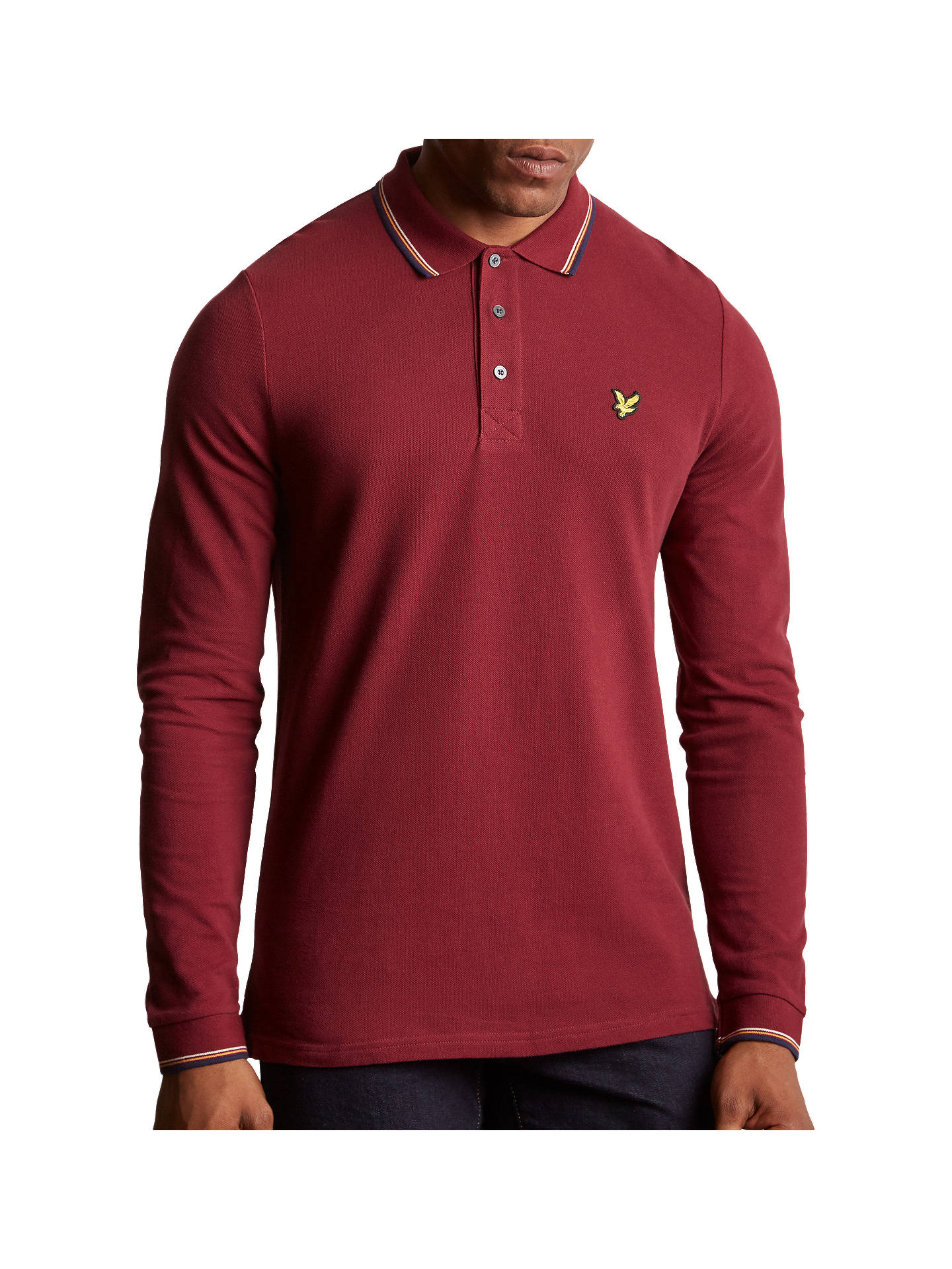 a7f791f93 Buy Lyle   Scott Long Sleeve Tipped Polo Shirt