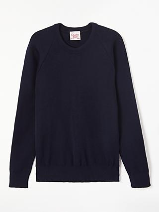 Alleyn's Junior School Unisex Crew Neck Pullover, Dark Navy