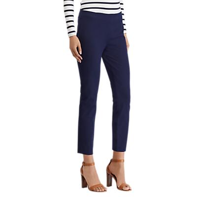 Lauren Ralph Lauren Keslina Stretch Twill Skinny Crop Trousers, Navy