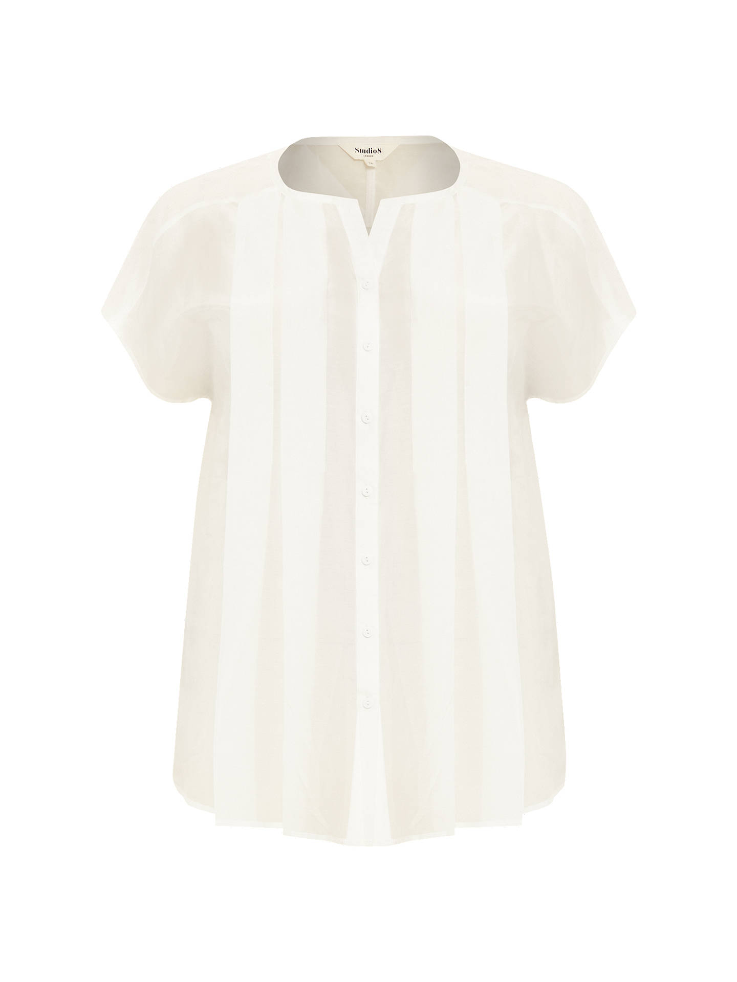 BuyStudio 8 Natalie Top, White, 16 Online at johnlewis.com