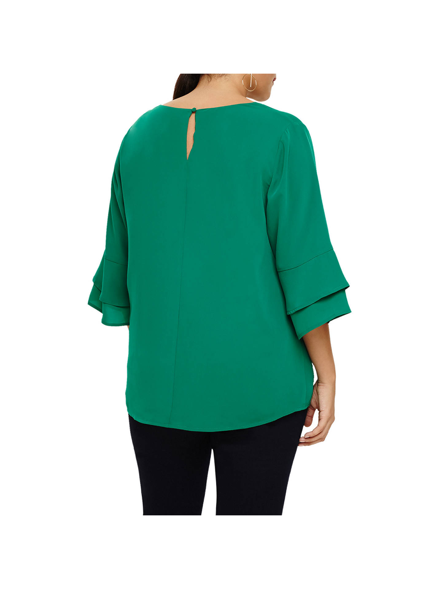 BuyStudio 8 Fluted Sleeve Top, Green, 24 Online at johnlewis.com