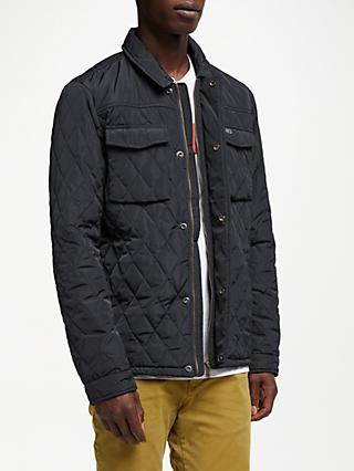 Scotch & Soda Classic Quilted Shirt Jacket, Night