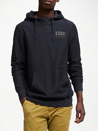 Buy Scotch & Soda Clean Hoodie, Midnight, L Online at johnlewis.com