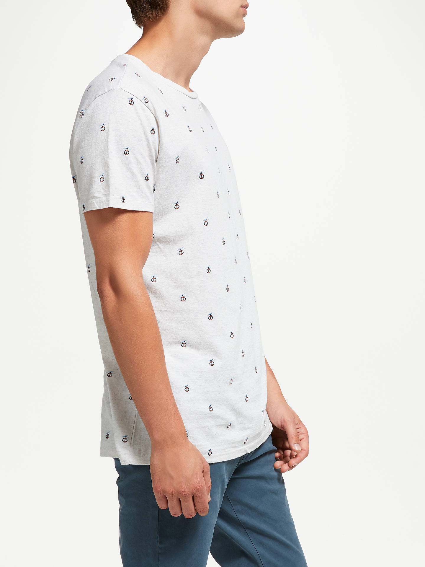 BuyScotch & Soda Crew Neck Jersey T-Shirt, Grey, S Online at johnlewis.com