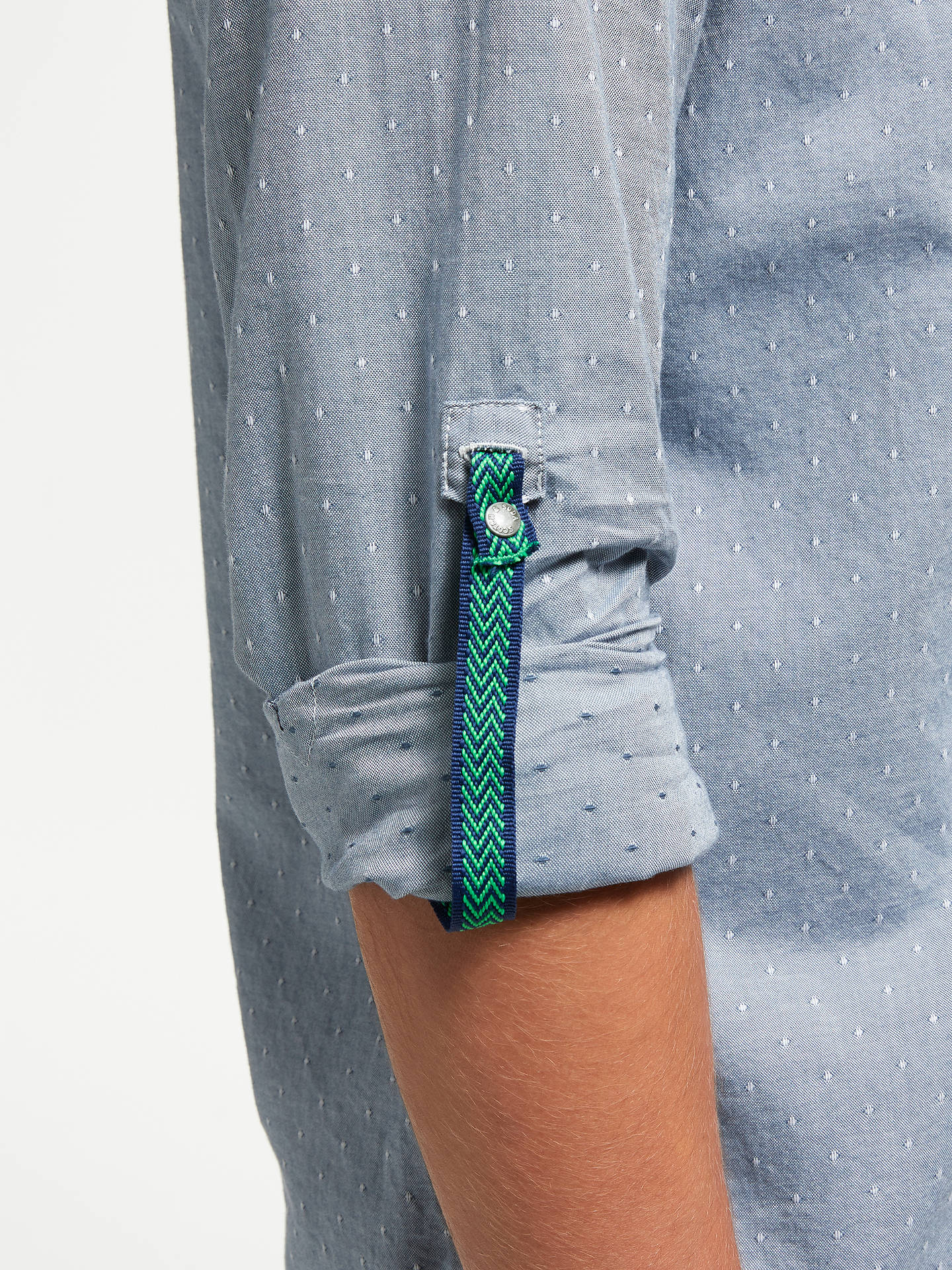 BuyScotch & Soda Shirt with Chest Pocket, Blue, L Online at johnlewis.com
