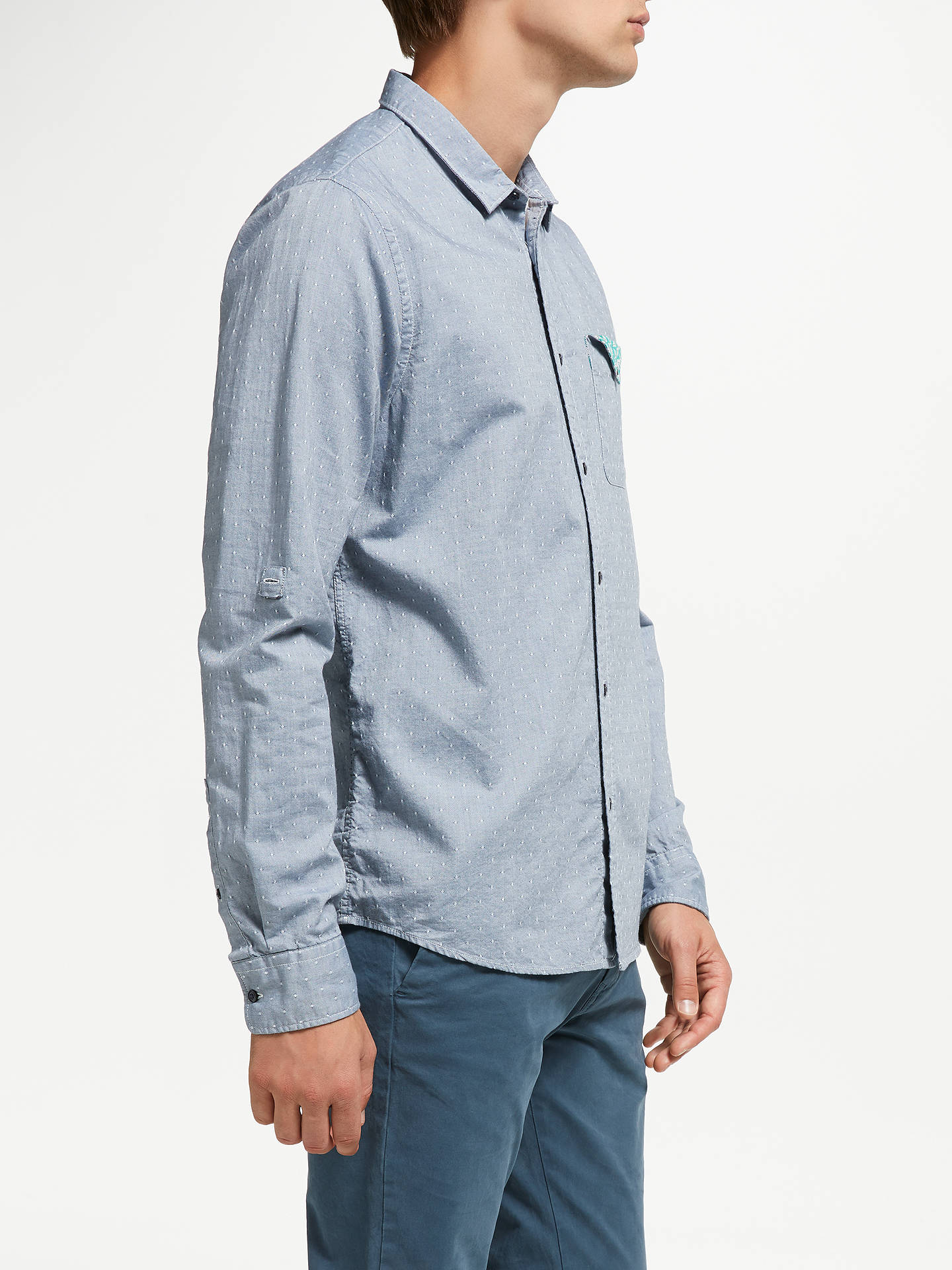 Buy Scotch & Soda Shirt with Chest Pocket, Blue, L Online at johnlewis.com