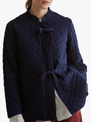 Buy Toast Japanese Quilted Jacket, Indigo, 8 Online at johnlewis.com