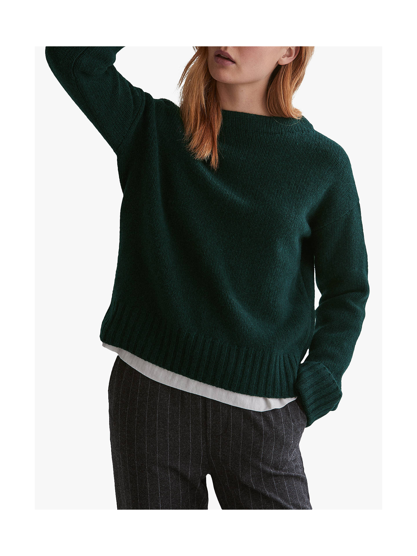 BuyToast Soft Merino Easy Sweater, Forest Green, S Online at johnlewis.com