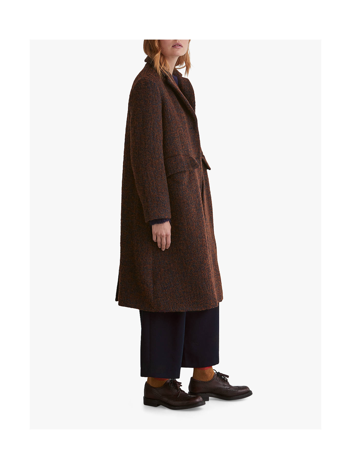 Buy Toast Wool Twill Coat, Chestnut, 8 Online at johnlewis.com