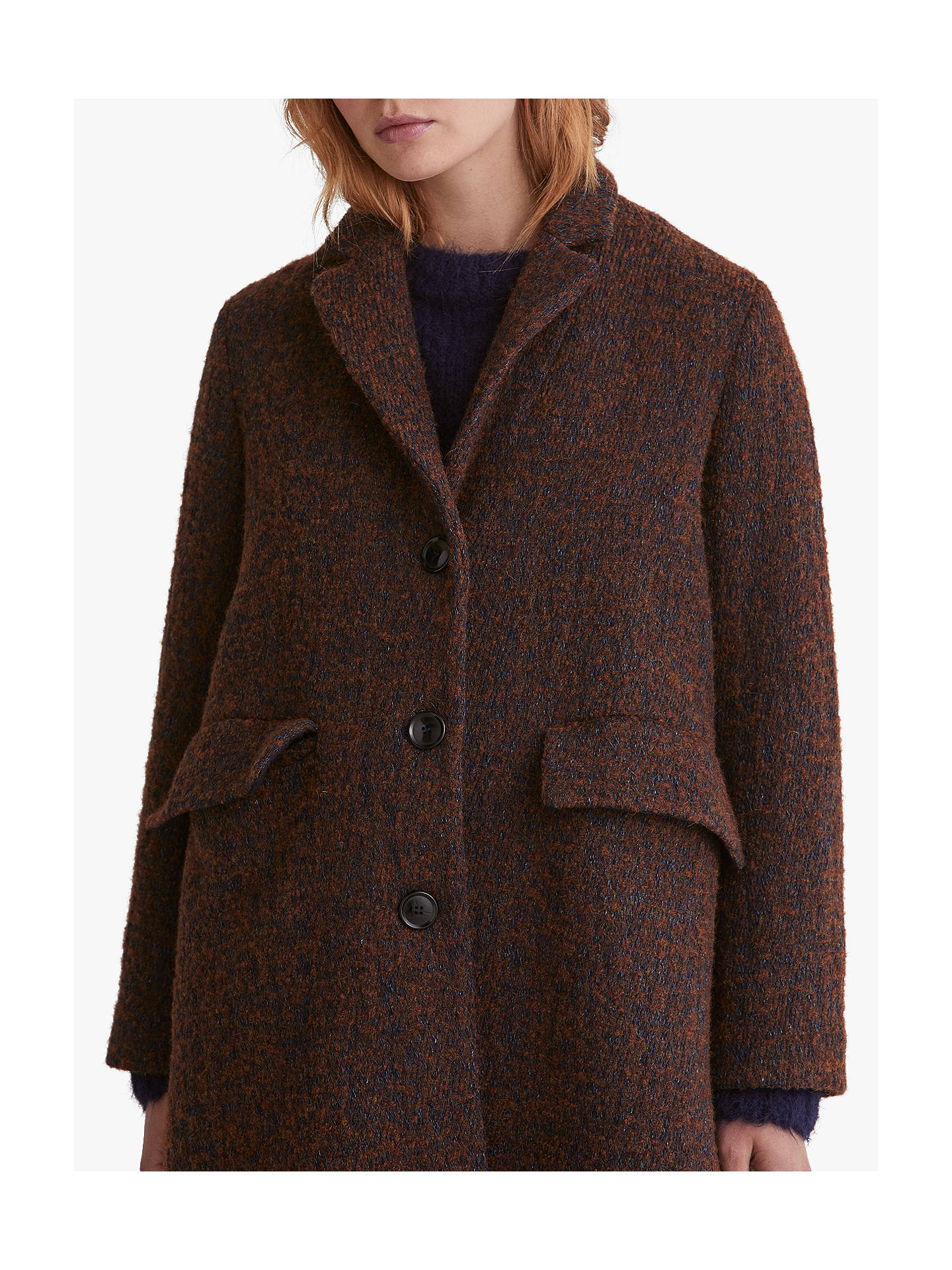 BuyToast Wool Twill Coat, Chestnut, 8 Online at johnlewis.com