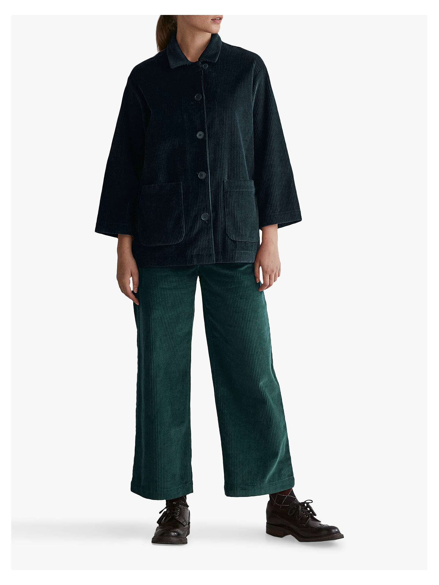 Buy Toast Cord Wide Leg Trousers, Vintage Teal, 8 Online at johnlewis.com
