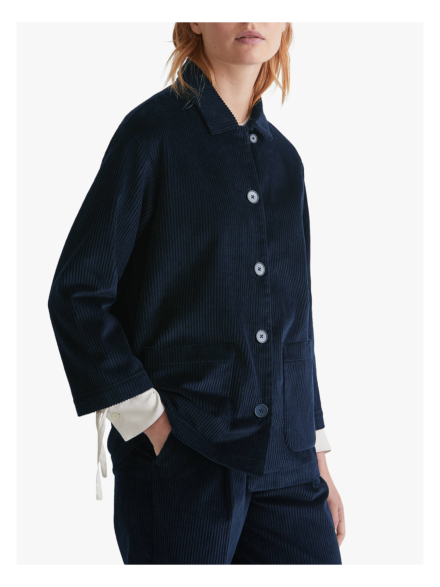 Buy Toast Cotton Cord Jacket, Anthracite Blue, 14 Online at johnlewis.com