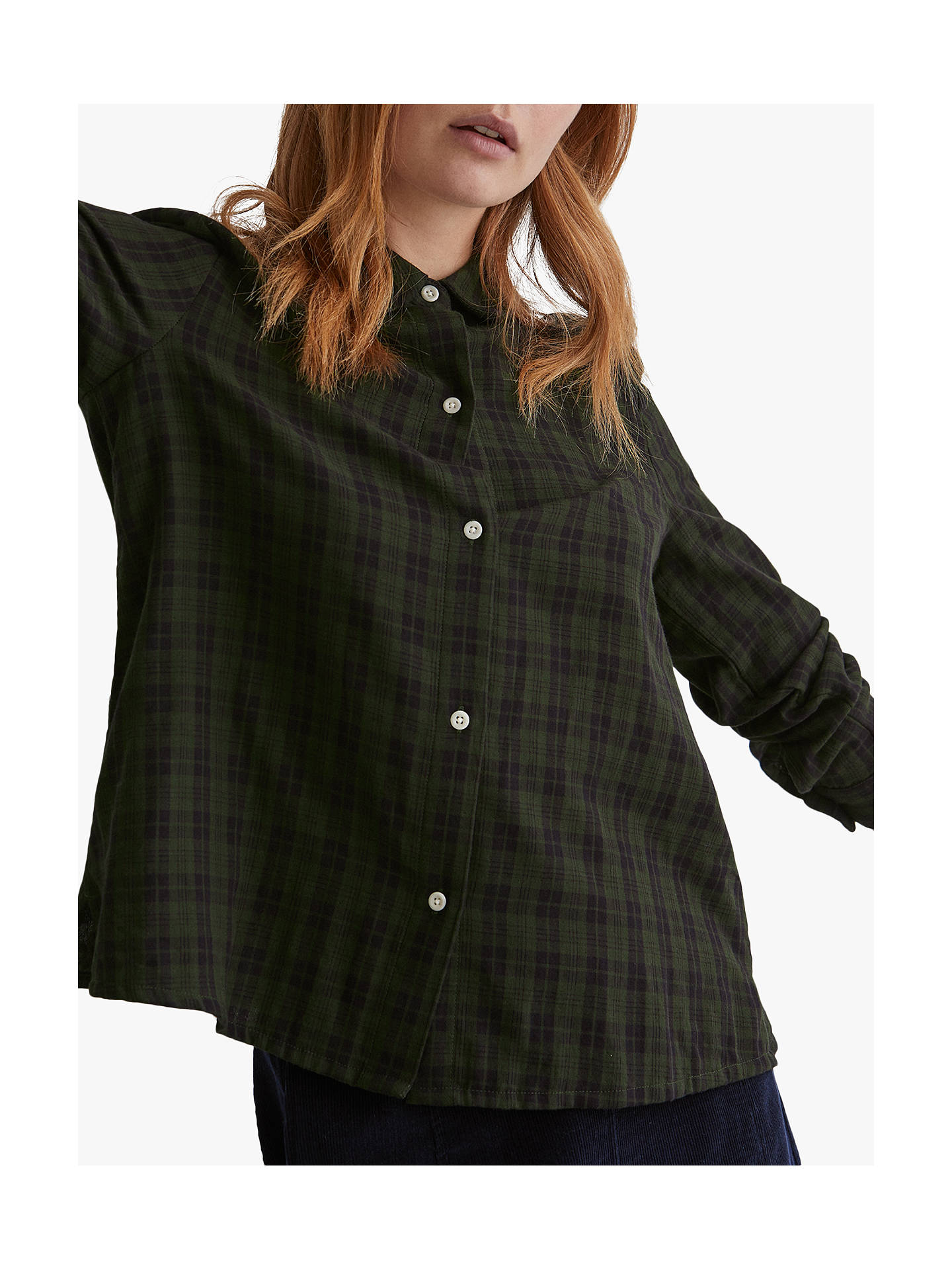Buy Toast Double Faced Check Shirt, Loden/Midnight Navy, 16 Online at johnlewis.com
