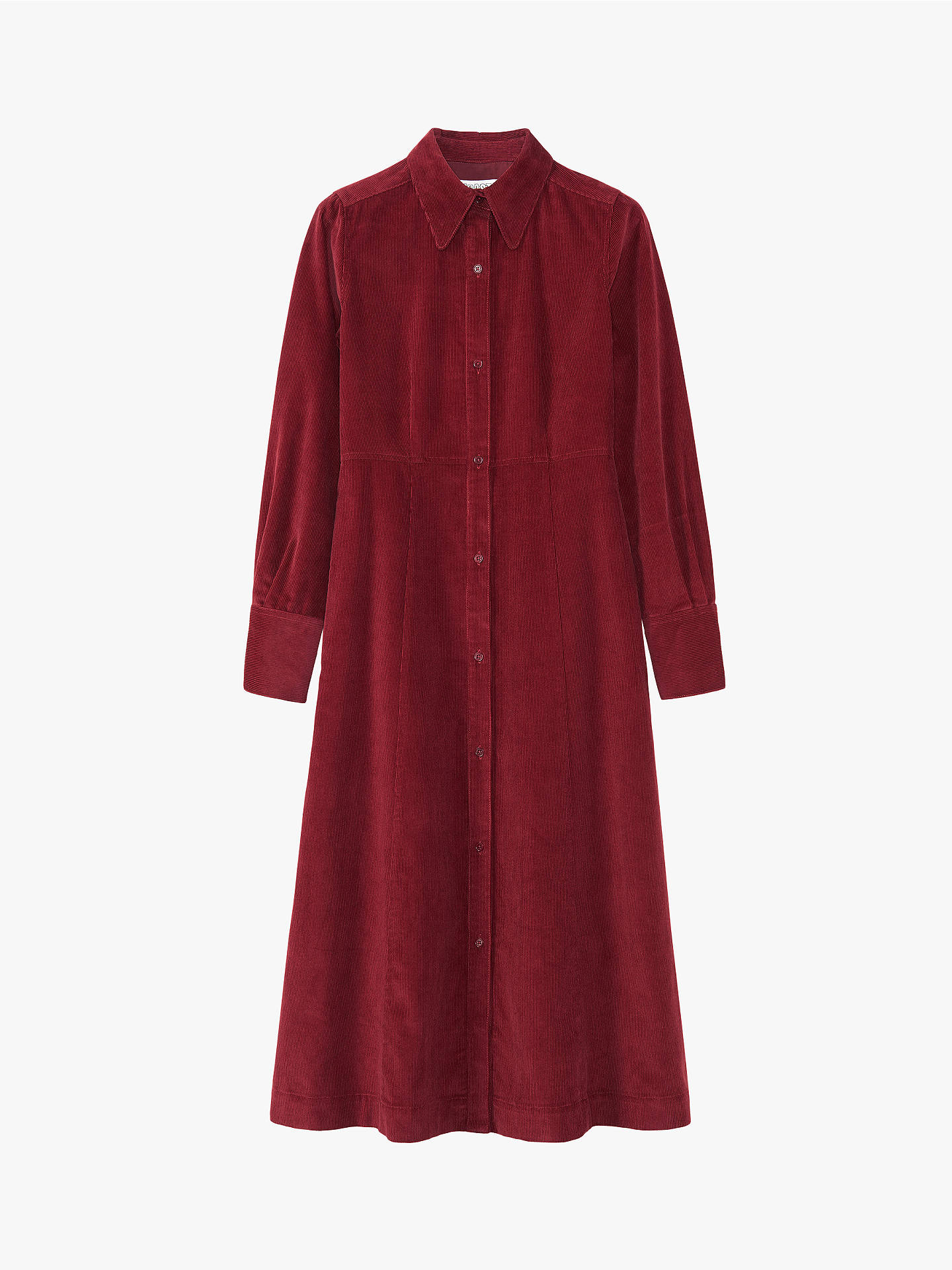 Buy Toast Cord Shirt Dress, Boysenberry, 14 Online at johnlewis.com