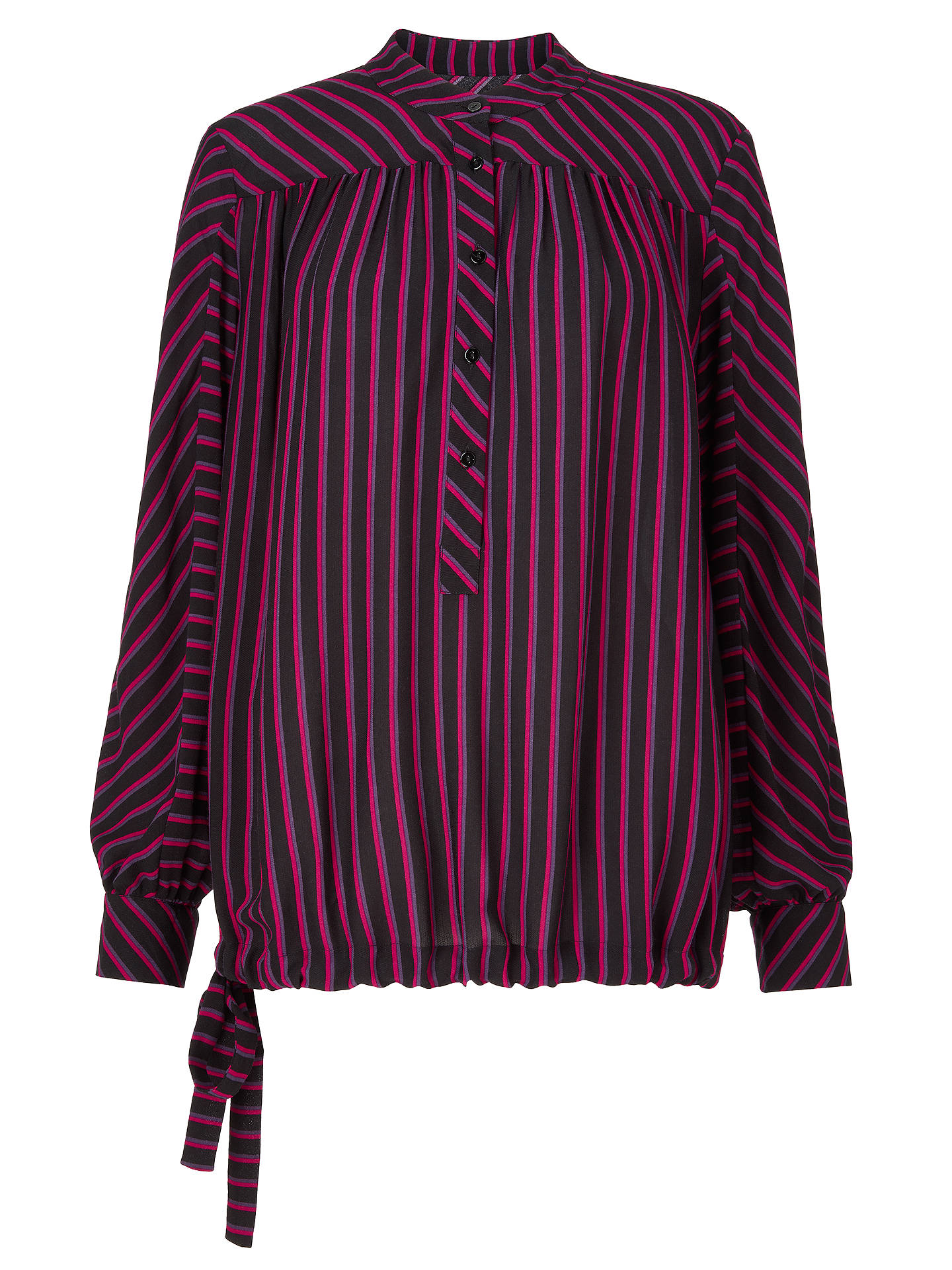 BuyAND/OR Rosetta Blouse, Black/Pink Stripe, 16 Online at johnlewis.com