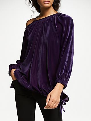 AND/OR Anya Velvet Top, Gothic Grape