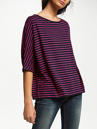 AND/OR Stripe Seam T-Shirt, Pink/Black