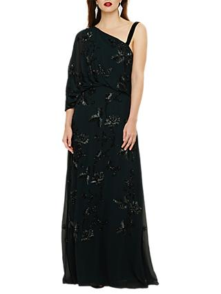 Phase Eight Shirley Embellished Dress, Ever Green