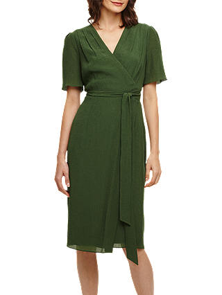 Buy Phase Eight Nancy Wrap Dress, Sage, 6 Online at johnlewis.com