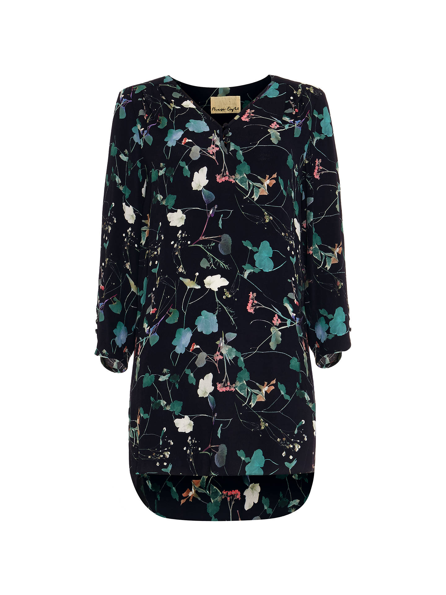 b46e311934f Buy Phase Eight Pearly Floral Tunic, Navy/Multi, 8 Online at johnlewis.