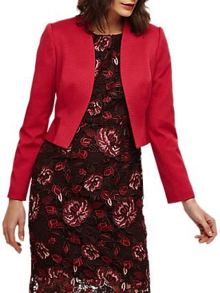 Phase Eight Yani Jacket, Bright Lipstick