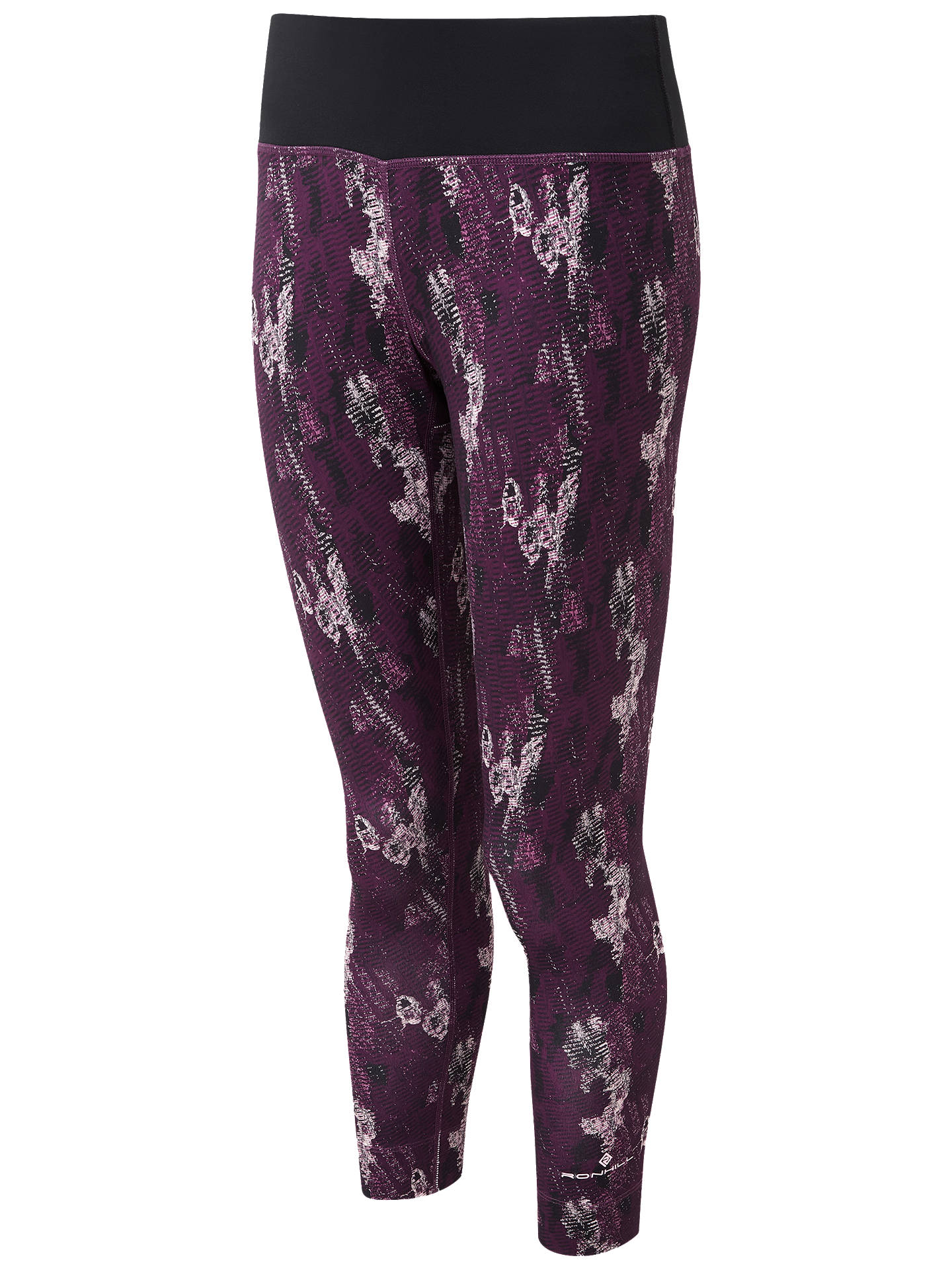 BuyRonhill Momentum Cropped Running Tights, Aubergine Cloud, 8 Online at johnlewis.com