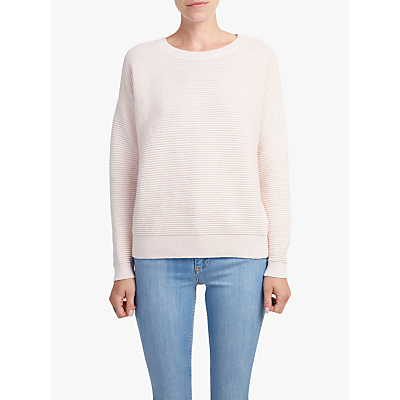 Image of French Connection Mozart Ripple Jumper, Capri Blush