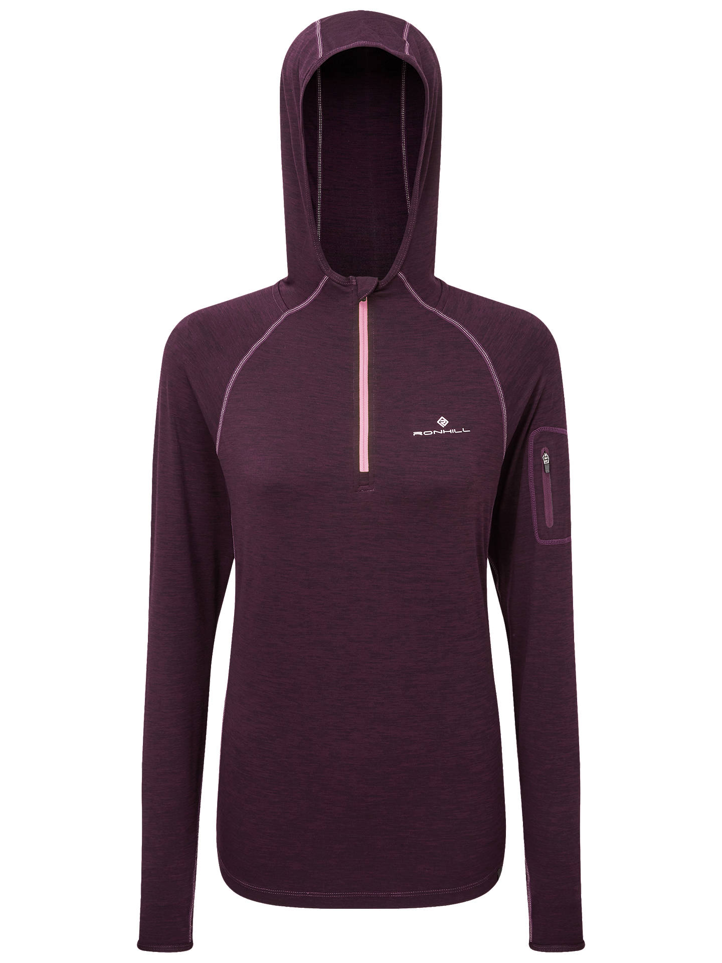 BuyRonhill Momentum Workout Hoodie, Aubergine/Blossom, 16 Online at johnlewis.com