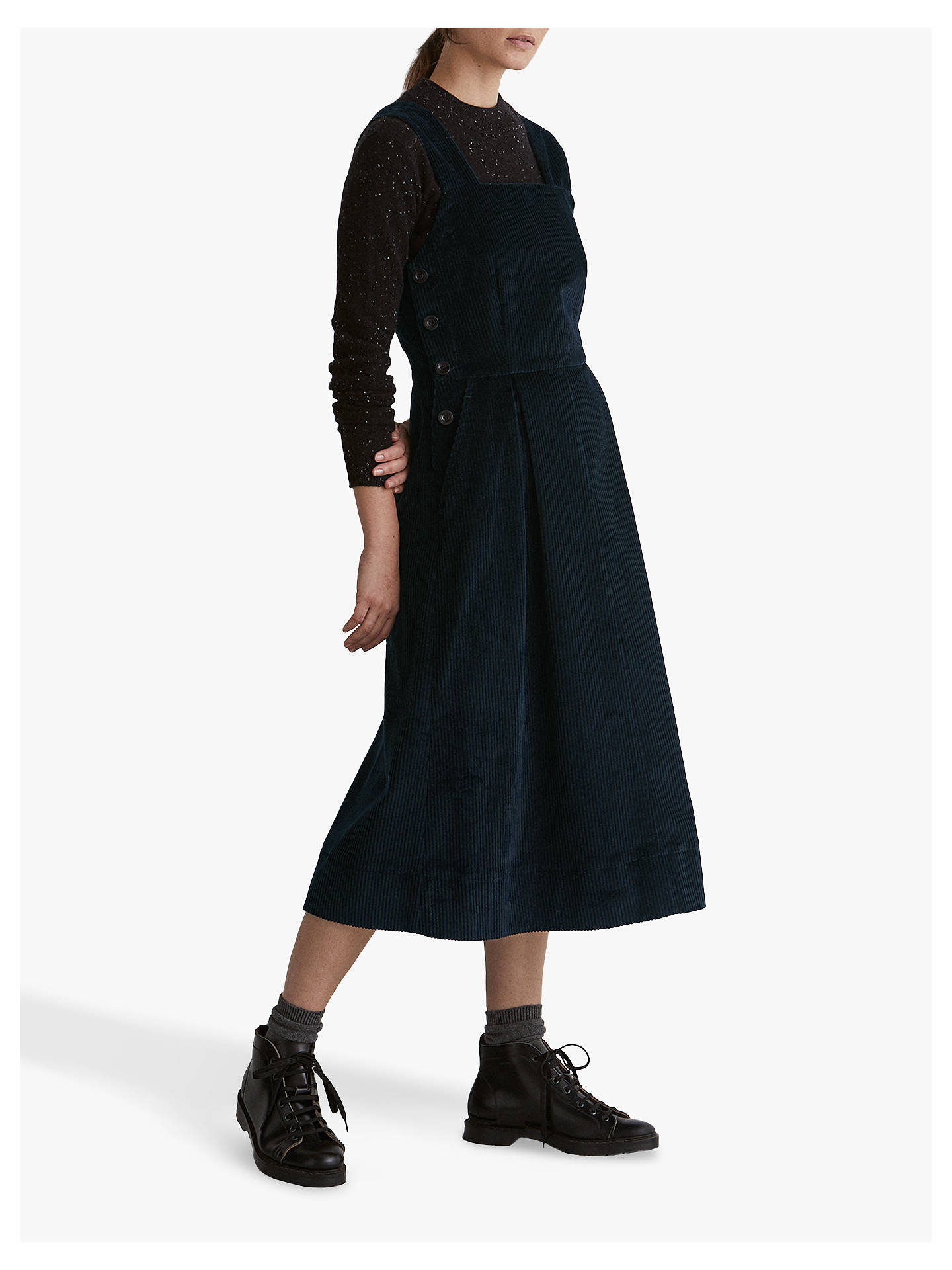 Toast Cord Pinafore Dress Anthracite Blue At John Lewis Partners