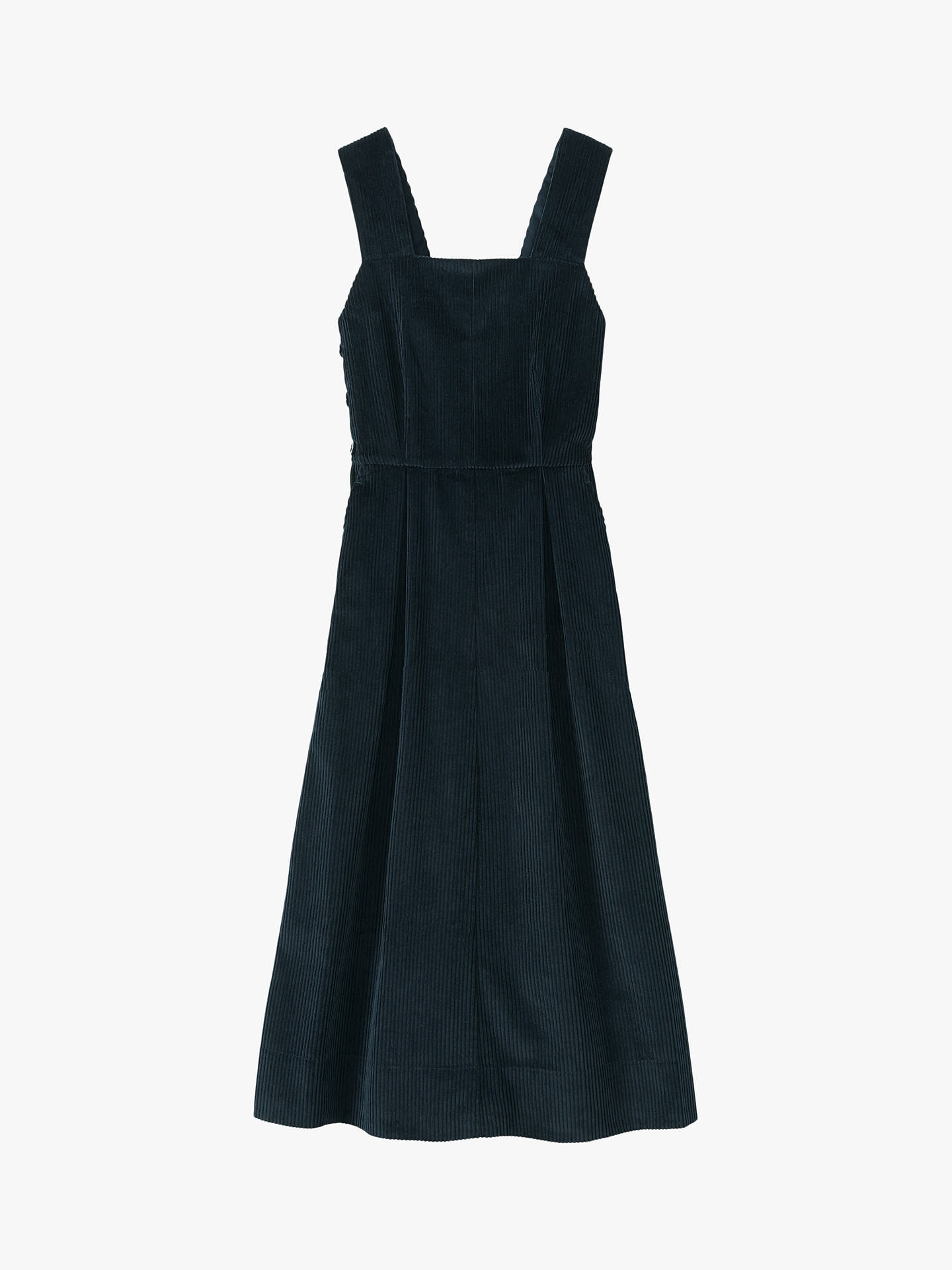 Buy Toast Cord Pinafore Dress, Anthracite Blue, 10 Online at johnlewis.com