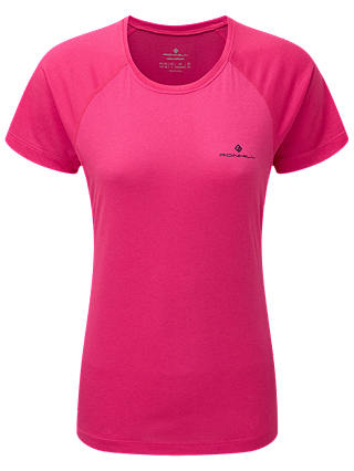 Buy Ronhill Momentum Short Sleeve Running Top, Azalea, 14 Online at johnlewis.com