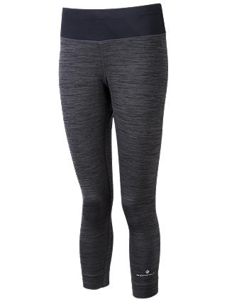 Buy Ronhill Momentum Cropped Running Tights, Charcoal Marl, 10 Online at johnlewis.com