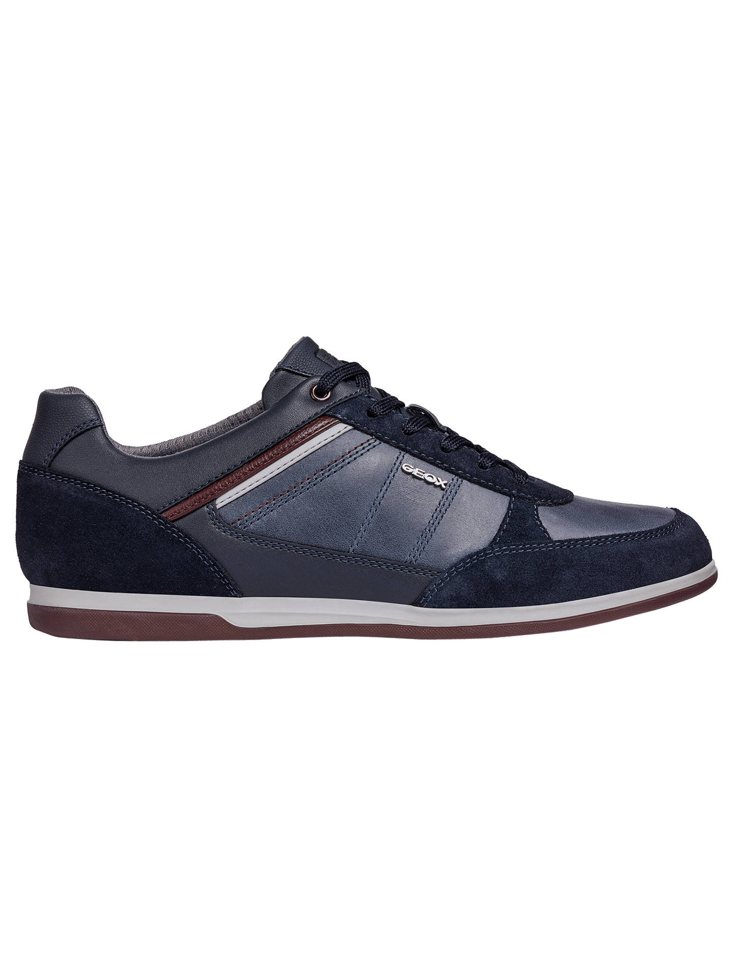 77b251c2b9f Buy Geox Renan Breathable Trainers, Blue, 8 Online at johnlewis.com ...