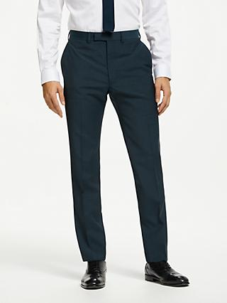 Kin Pindot Slim Fit Suit Trousers, Petrol