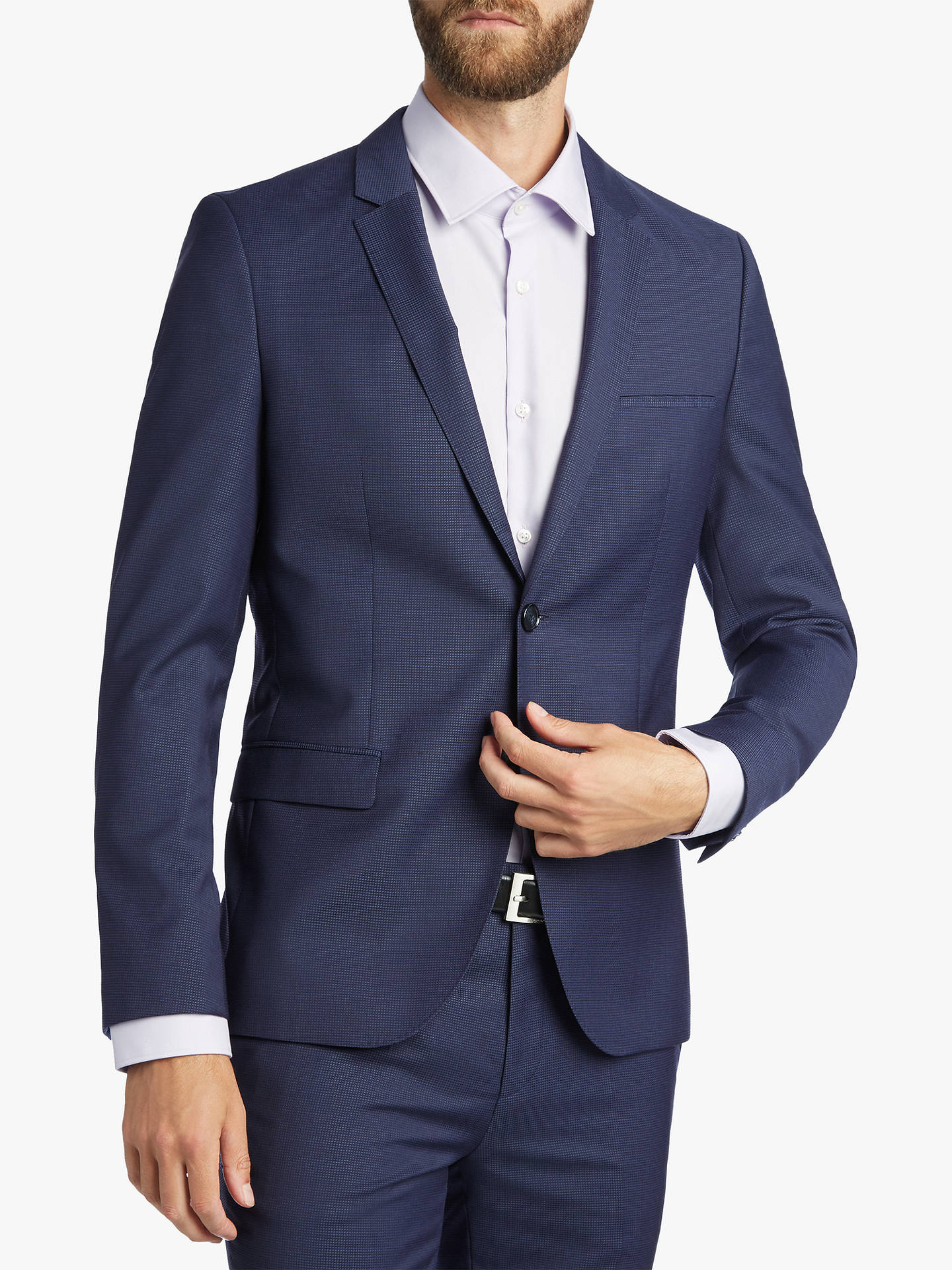 22f26d0da Buy HUGO by Hugo Boss Arti/Hesten Fil a Fil Wool Super Slim Suit Jacket ...