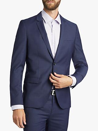 b1173cf75 HUGO by Hugo Boss Arti/Hesten Fil a Fil Wool Super Slim Suit Jacket,
