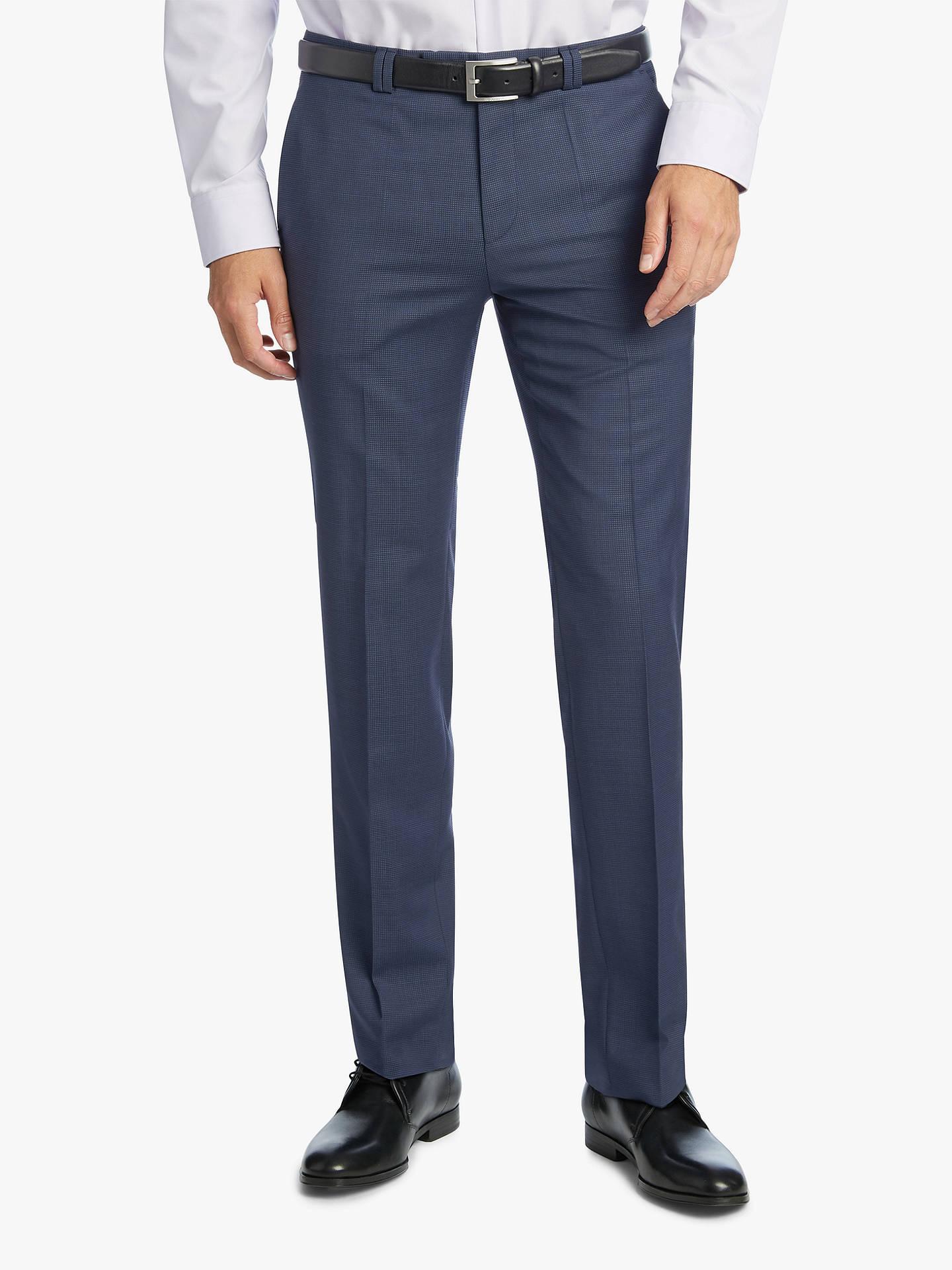 08c10ea1 Buy HUGO by Hugo Boss Arti/Hesten Fil a Fil Wool Super Slim Suit Trousers  ...