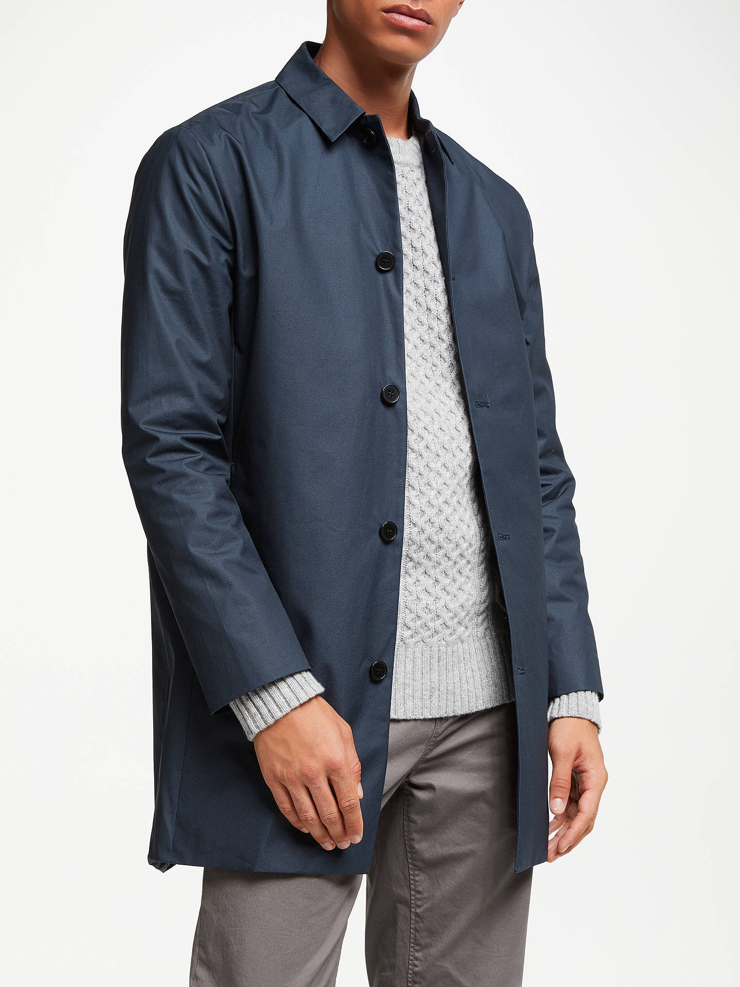 100% top quality 50-70%off super quality Les Deux Etique Mac Coat, Navy at John Lewis & Partners