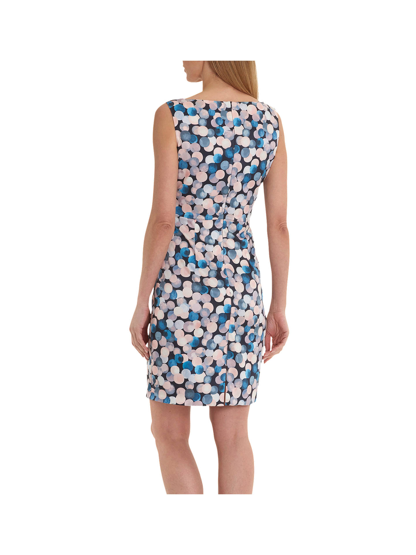 BuyBetty Barclay Globe Print Dress, Blue/Rosé, 10 Online at johnlewis.com
