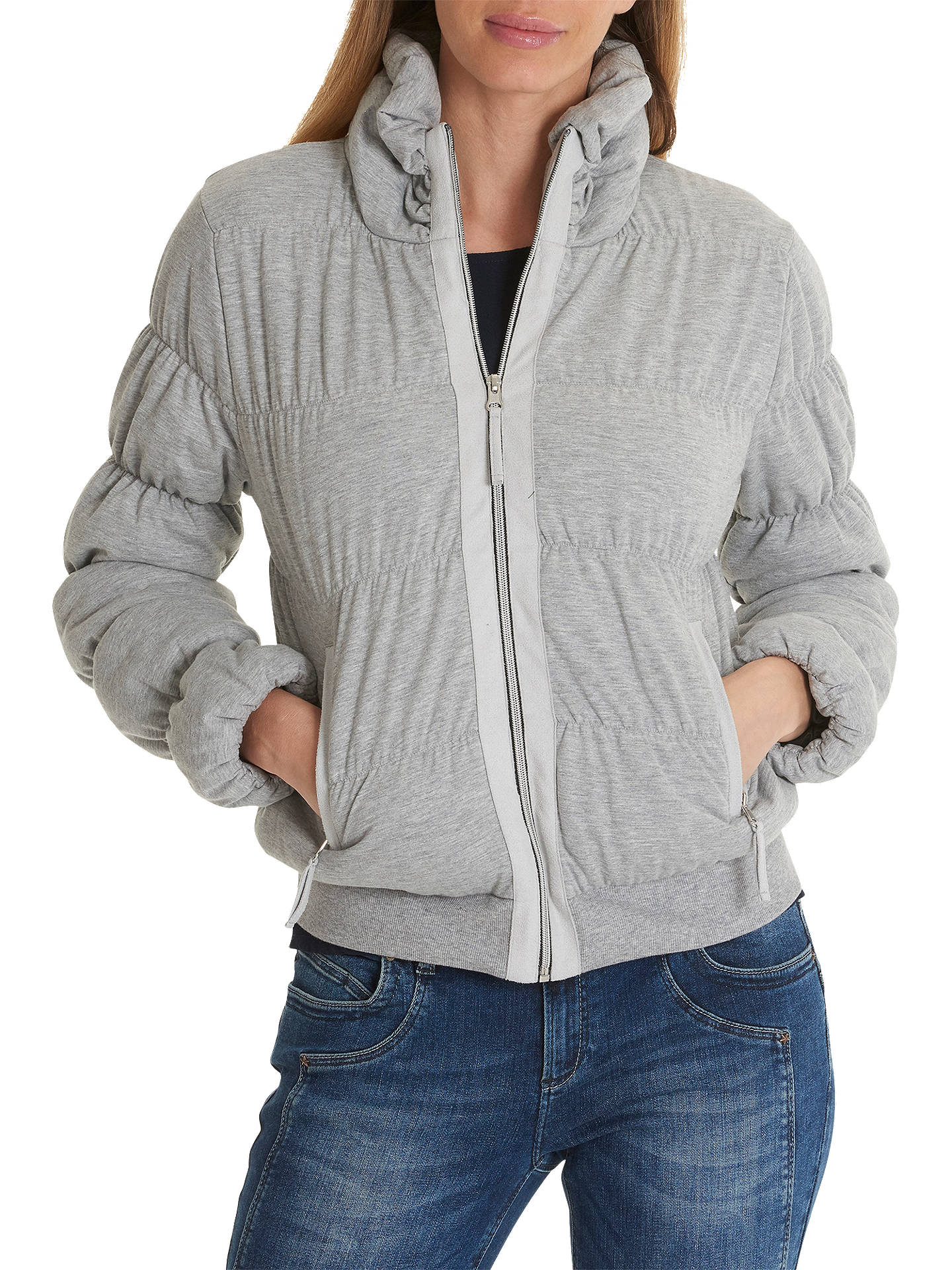 BuyBetty Barclay Padded Jacket, Light Silver Melange, 10 Online at johnlewis.com