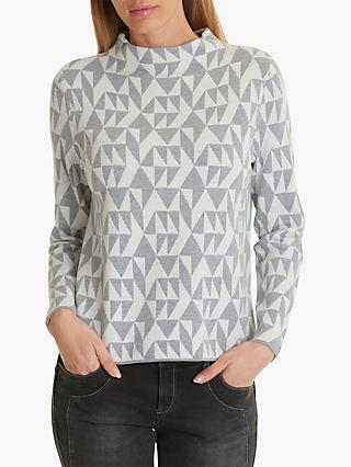 Betty Barclay Geometric Funnel Neck Jumper