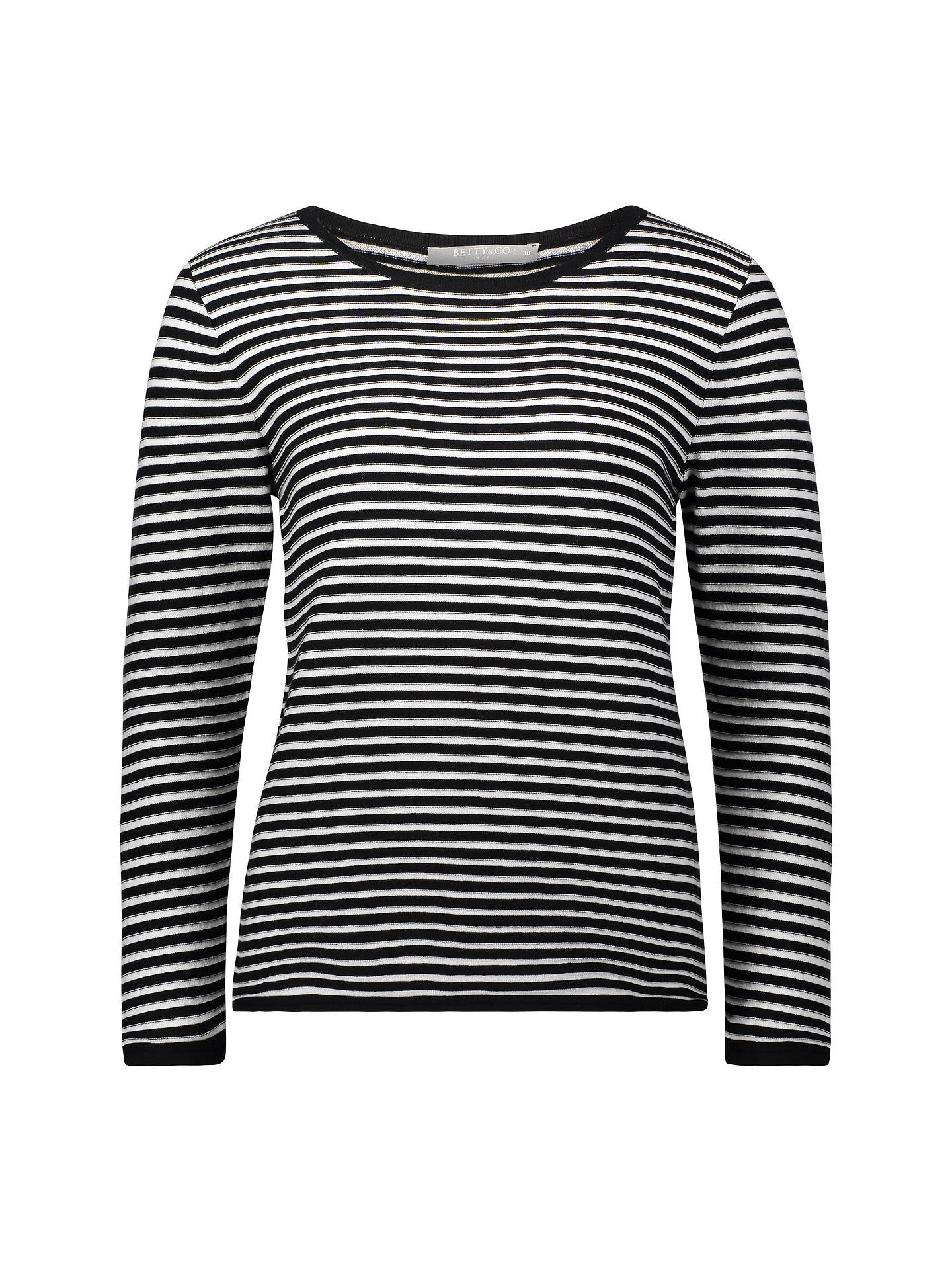 BuyBetty & Co. Striped Jumper, Black/White, 10 Online at johnlewis.com