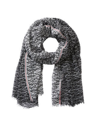 Buy Betty Barclay Scribble Print Scarf, Black/White Online at johnlewis.com